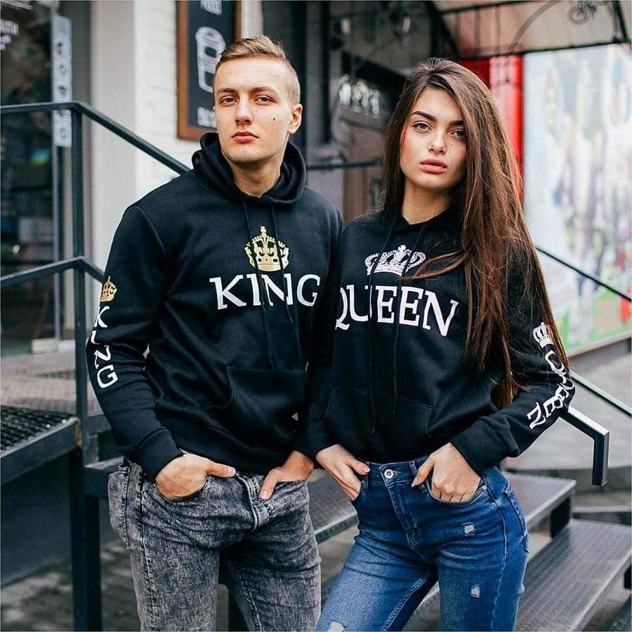 King And Queen Couple Hoodies | Couple Matching