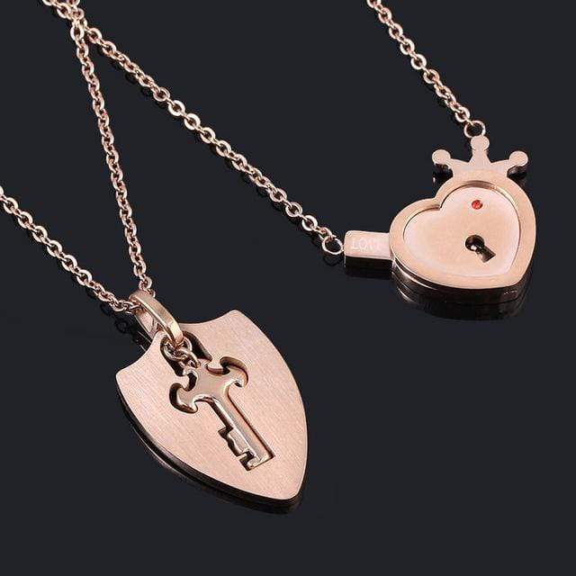 Key To My Heart Necklace His And Hers | Couple Matching