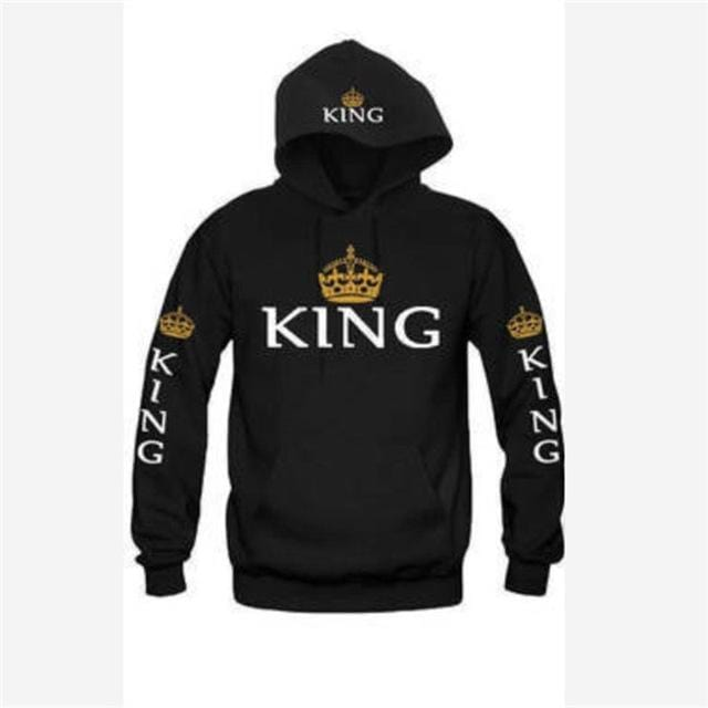 Matching hoodies King and queen Crown