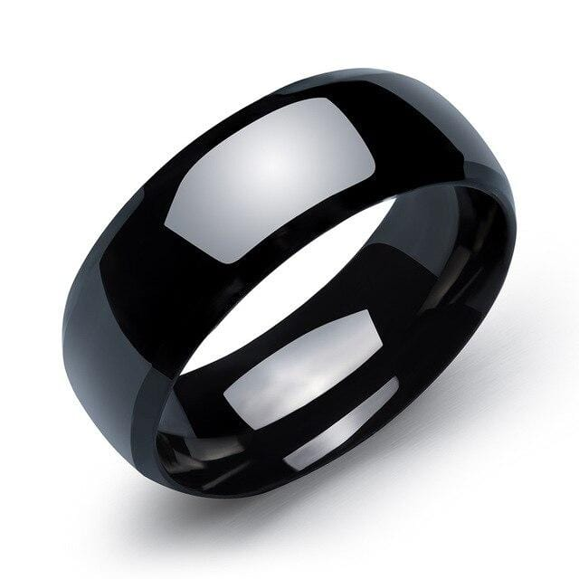 Minimalist couple rings color black
