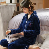Winter christmas couple pajamas for sleepwear