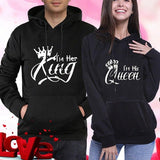 His And Her King And Queen Hoodies | Couple Matching