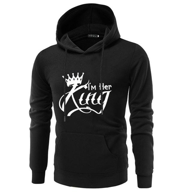 Couple hoodies I'm his and her queen king