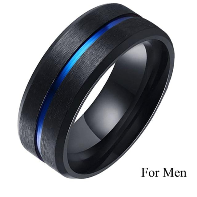 Couple ring wedding <br/> Blue sapphire silver