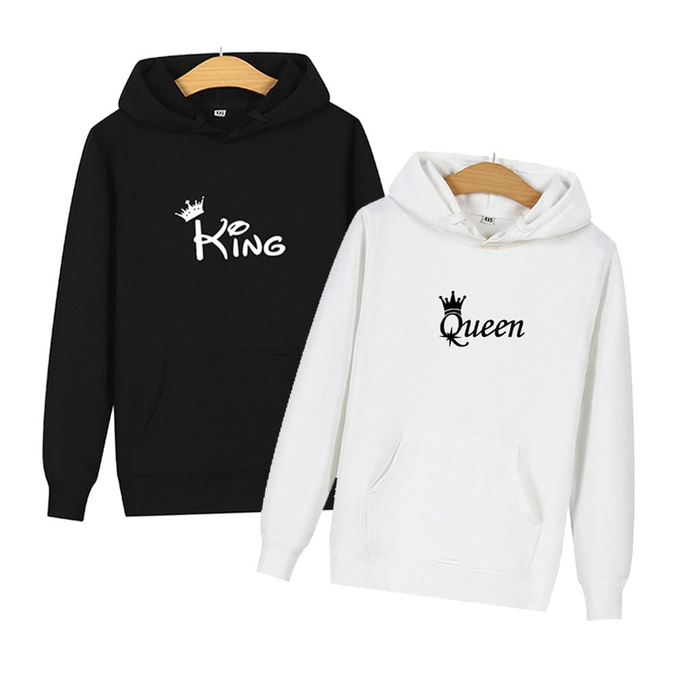 White King And Queen Hoodies | Couple Matching