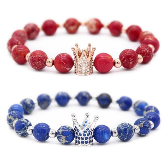 Lovers crown matching bracelets