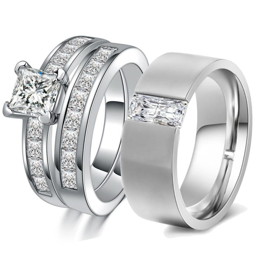 His and hers promise rings for couple