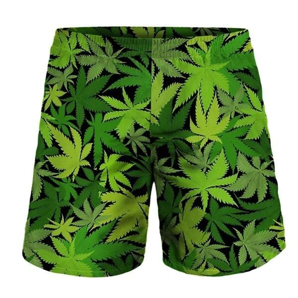 Green couple shorts for the beach