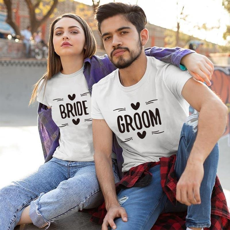 Funny Bride And Groom Shirts | Couple Matching
