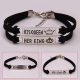 Set his queen her king cute couple bracelets