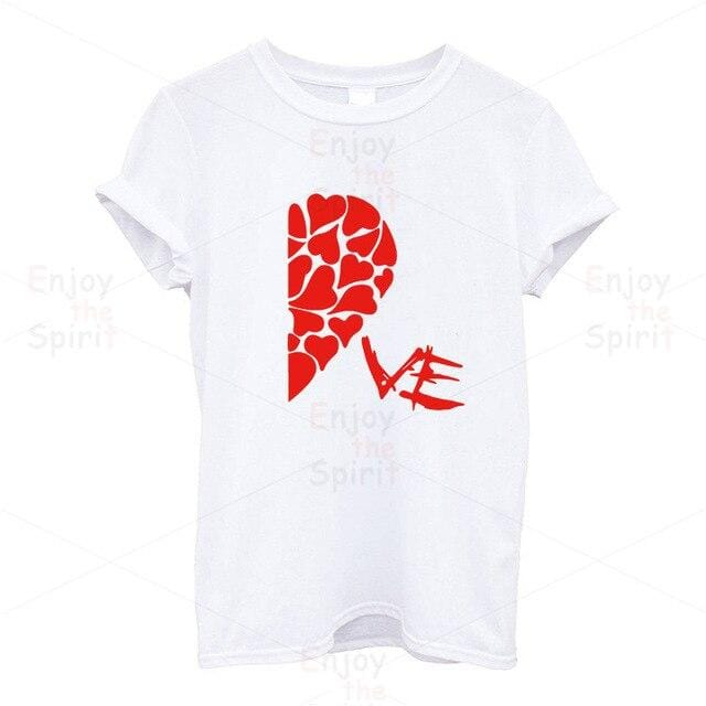 Couple t-shirt <br/> Heart love