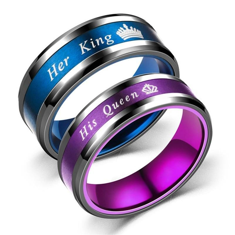 King and queen Pink and Blue color rings for relationship