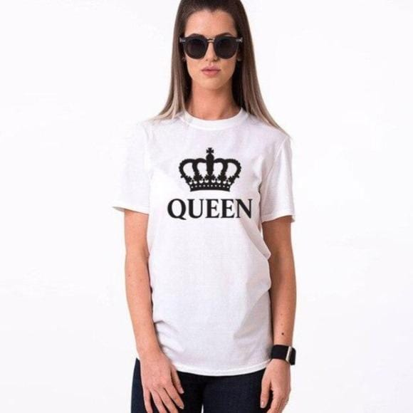 Couple t-shirt King and queen black