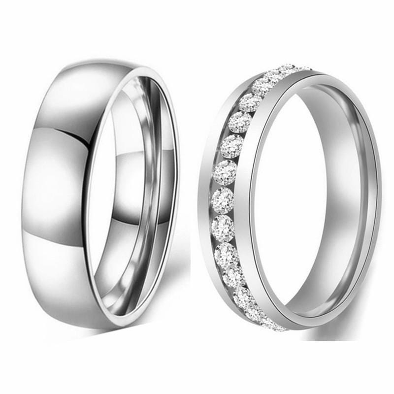 Titanium Promise Rings For Couples | Couple Matching