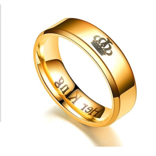 Couple ring <br/> His queen her king