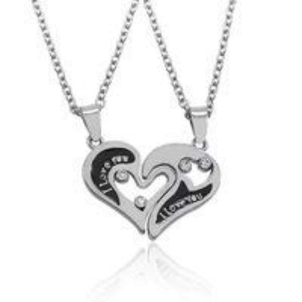 Broken Heart Necklace For Couples | Couple Matching
