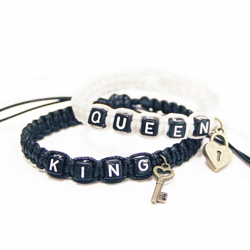 Couple bracelet <br/> King and queen white and black