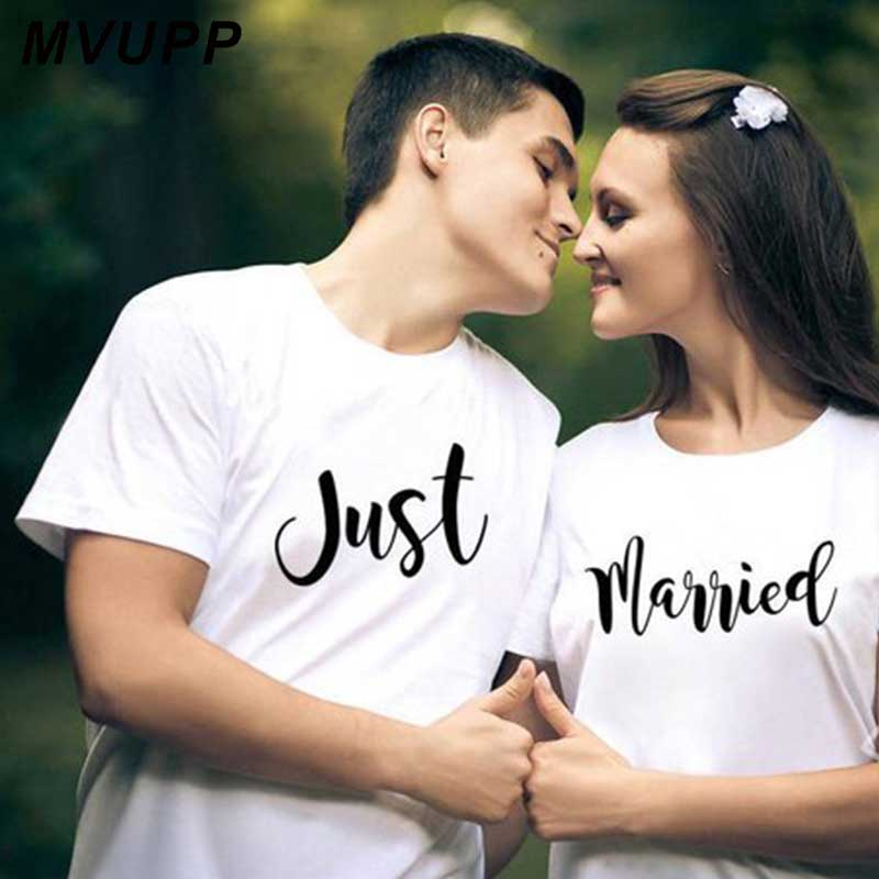 Couple matching relationship shirts Just married