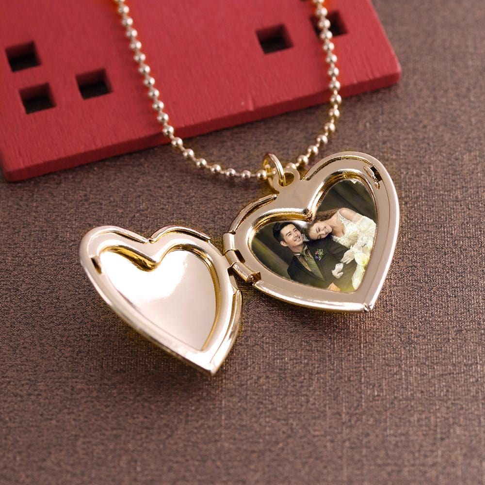 Relationship necklace for lovers Couple photo pendant