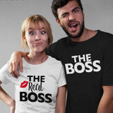 Husband and wife Shirts The real boss