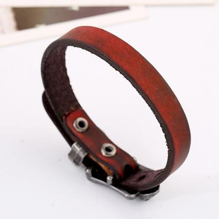 Classic matching leather bracelets
