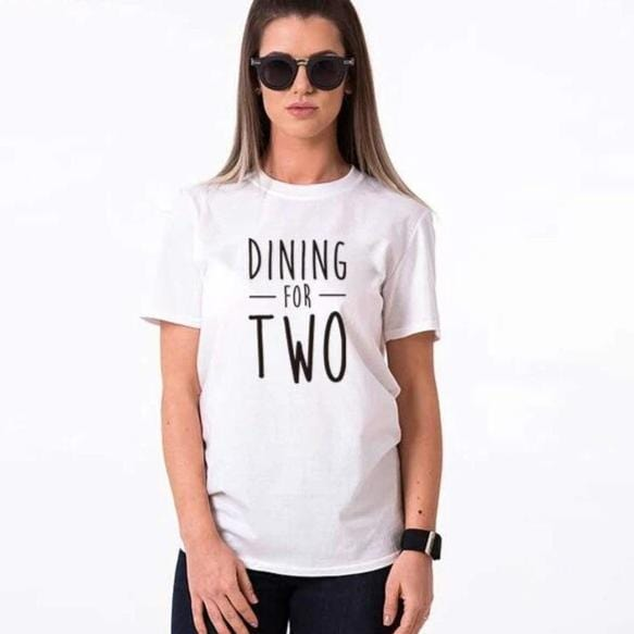 Funny couple shirts Dining for two drinking you