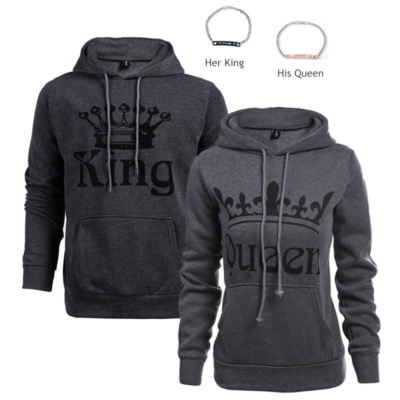 King Queen 01 Hoodie | Couple Matching