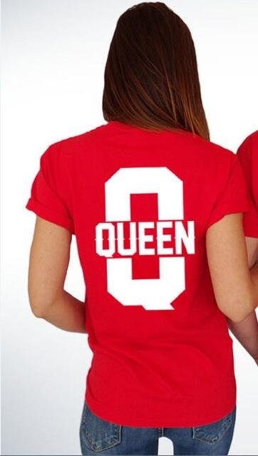 King and queen shirts K and Q