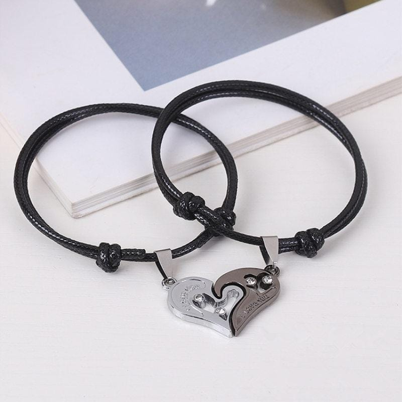 Relationship bracelets set heart for lovers