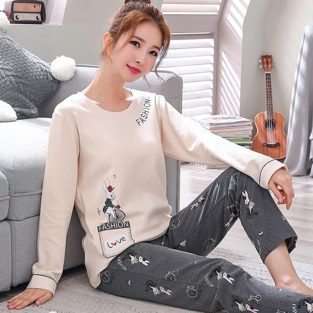 Couple pajamas Long sleeves for winter