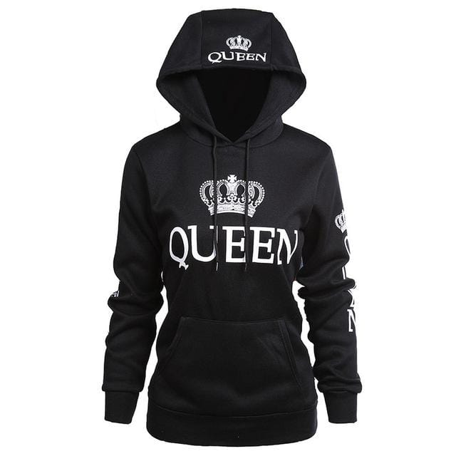Couple hoodies King and queen black