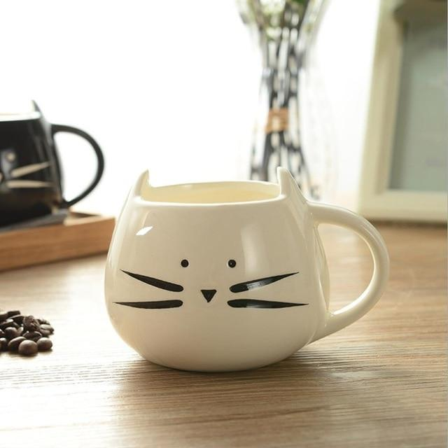 Cute couple mugs cats