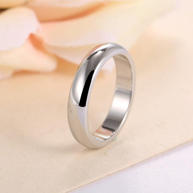 Rose gold color simple rings for boyfriend or girlfriend