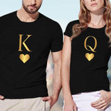 T Shirt Couple King Queen | Couple Matching