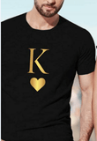 Matching shirts Gold color K and Q