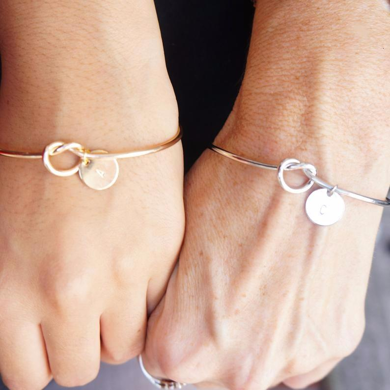 Relationship initial bracelets Gold and Silver color