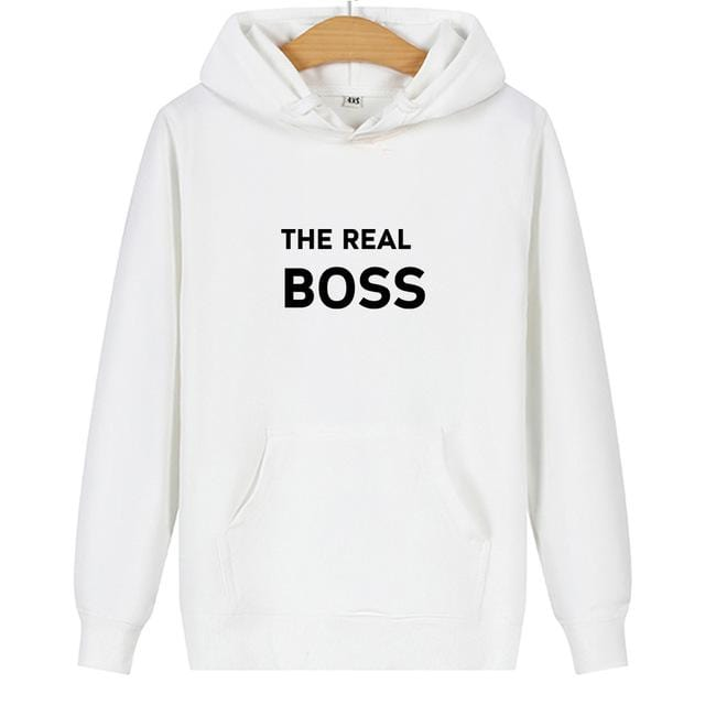 Couple hoodies The real boss