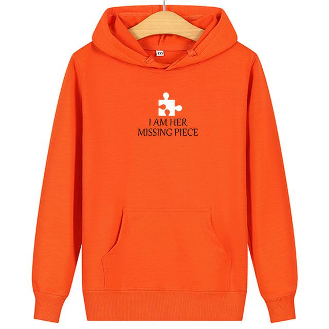 Couple hoodies Puzzle heart