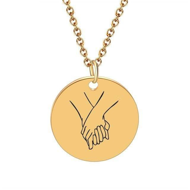 Pinky promise pendant necklace Gold color