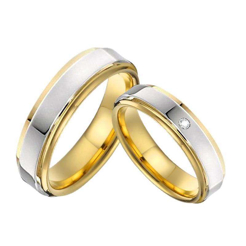 Couple rings for alliance color Gold and Silver
