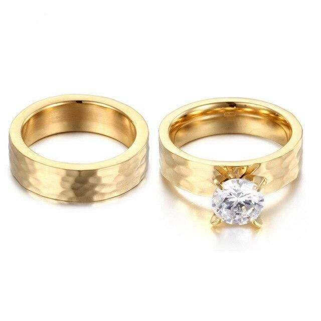 rings for couple Flower style