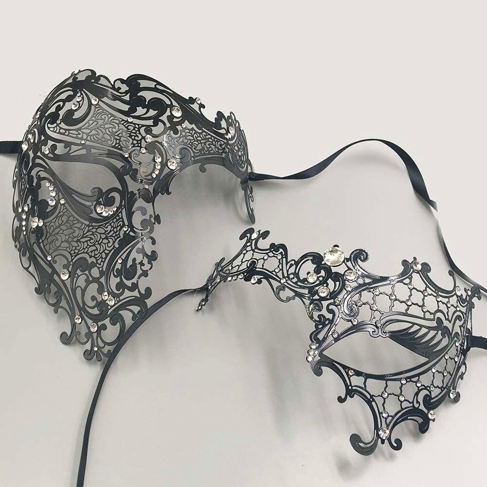 Matching couple party masquerade masks
