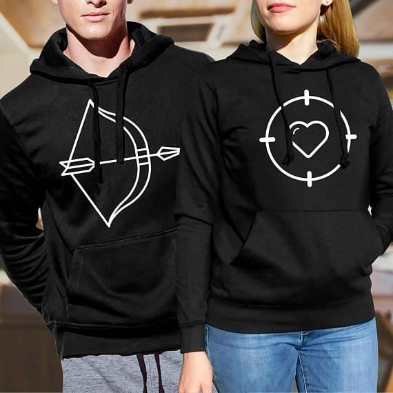 Matching Husband And Wife Hoodies | Couple Matching