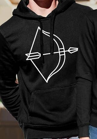 Couple hoodies Love arrow