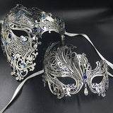 His & Her couple masquerade masks