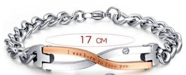 Infinity bracelets for friend or couple