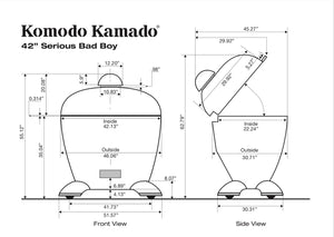 "42"" Serious Big Bad, CAD Drawing - KomodoKamado"