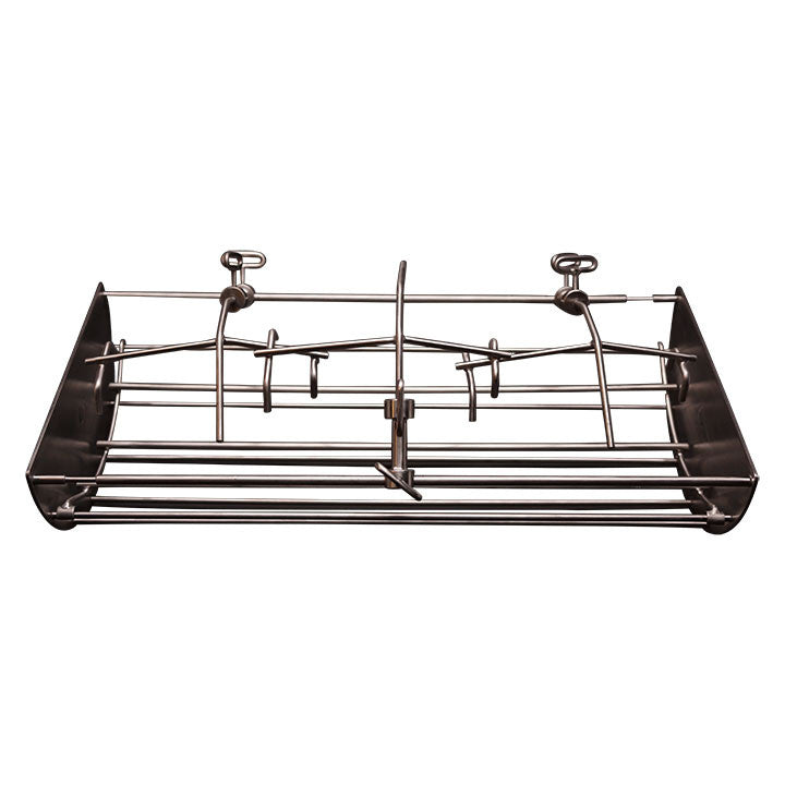 "22"" Hi-Cap Table Top  ~ 8"" Rotisserie Cradle w/ 6"" reducer - KomodoKamado"