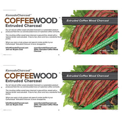 Extruded COFFEE WOOD Charcoal ~ w/Grill Sales Only