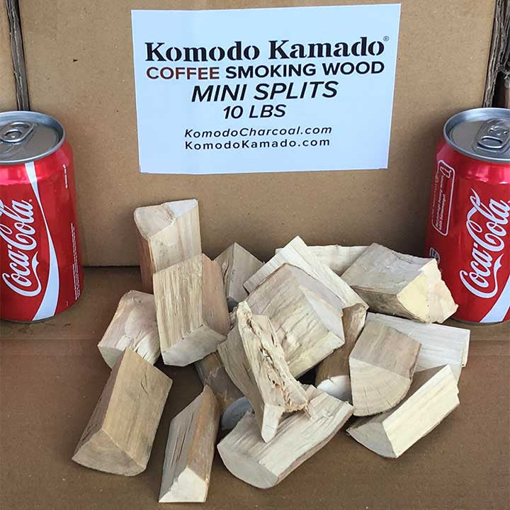 Coffee Smoking Wood ~ Mini Splits 10 lbs - KomodoKamado